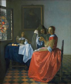GG 316Jan Vermeer van DelftDas Mädchen mit dem WeinglasLeinwand78 X 67 cm