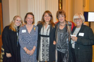Kathryn Van Sickle; Genie Devine; Tessa Dikker, Cultural Officer, Dutch Consulate, New York;  Marion de Vos, Honorary Diplomatic Member of the Holland Dames; Annette van Rooy.