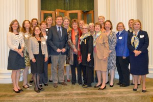 H. E. Jan Balkenende, Former Prime Minister of the Kingdom of the Netherlands with the Holland Dames Members and Honorary Diplomatic Members.
