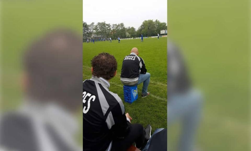 Keeper Martijn Lont redt punt voor Succes (Foto: v.v. Succes)