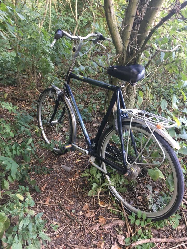 Maar ze hebben wel een fiets achtergelaten (Foto: SRC)