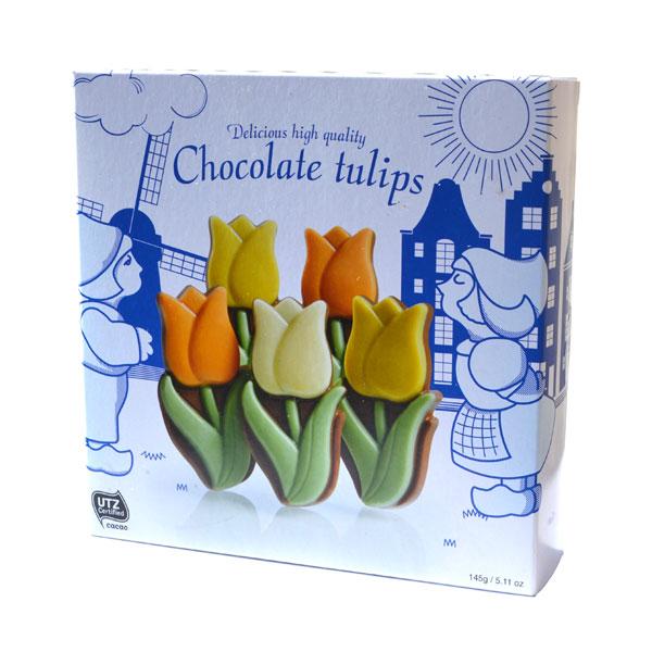 CHOCOLADE TULPEN IN HOLLAND DOOSJE  Hollands Snoep en