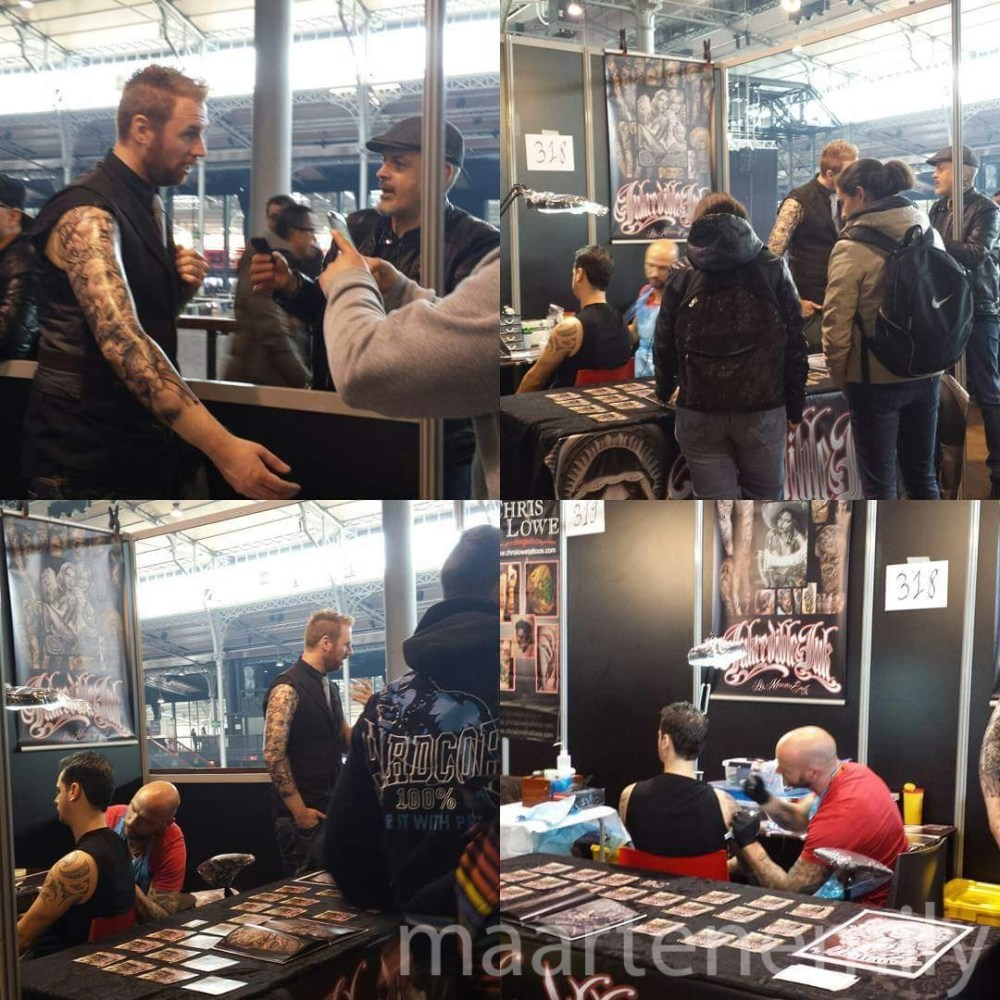 Tattooconvention Paris 2016 tattooartist Maarten Emily