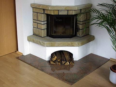 Eckkamin gemauert  Klimaanlage und Heizung zu Hause