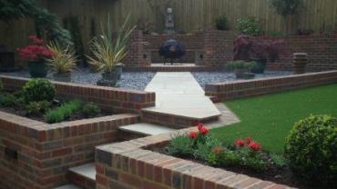 A low maintenance entertaining garden space