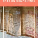 Diy No Sew Burlap Curtains Crystal Holliday With The Holliday Collective
