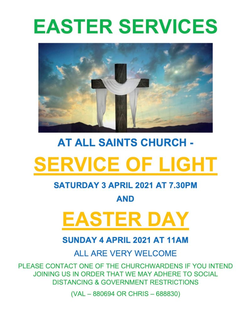 2021 EASTER SERVICES POSTER