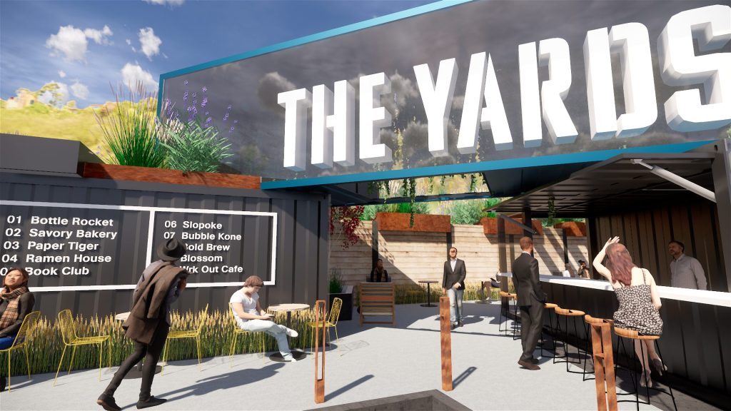The Yards Feature Sign and District Wayfinding
