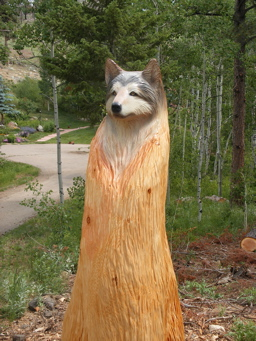 Hollow Log  Tree Carving Chainsaw carving and Sculpture