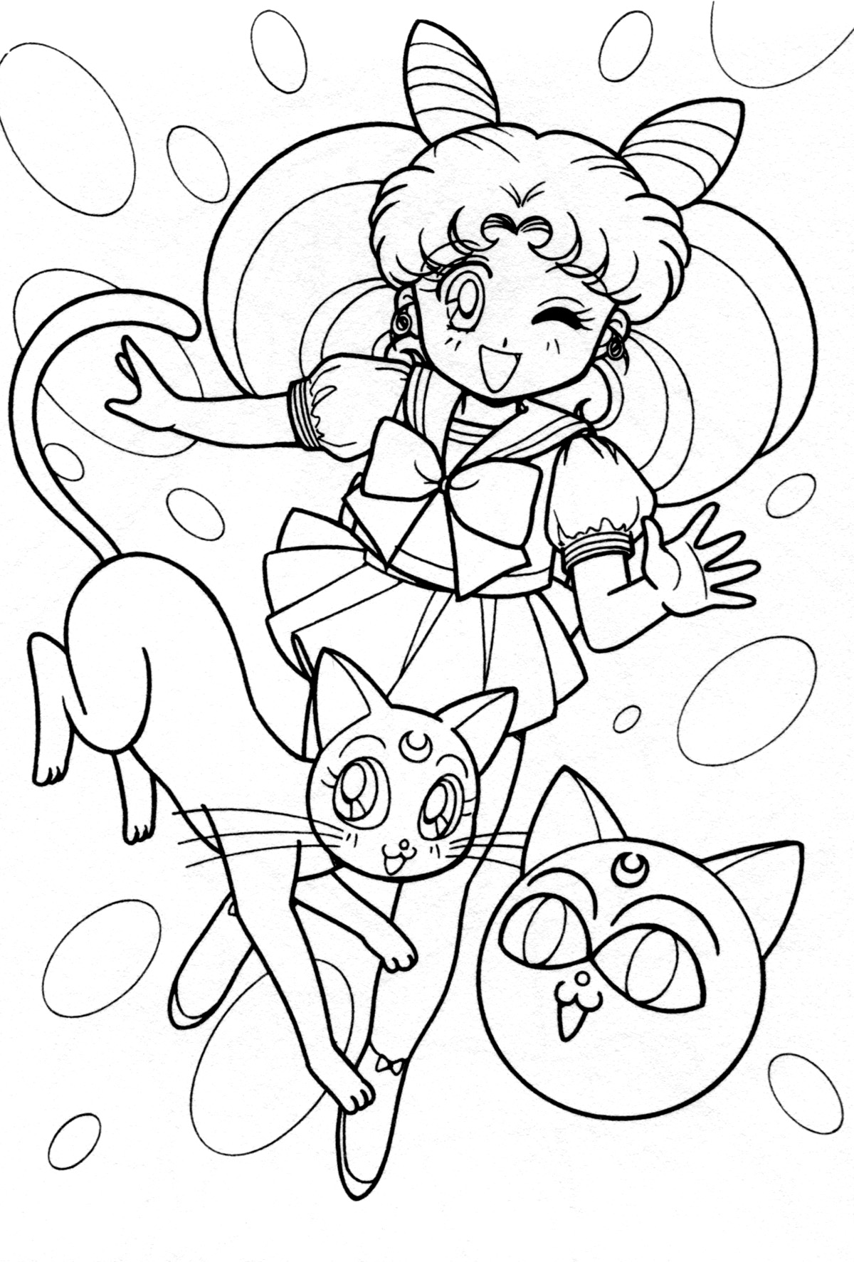 Images About Anime Coloring Pages On Pinterest