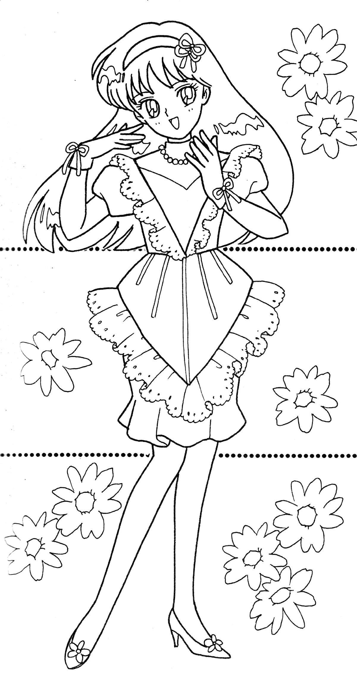 Sailor Mars Coloring Pages Az Sketch Coloring Page