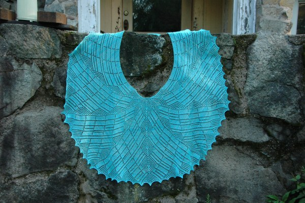 Tumbling Deco - knitted shawl