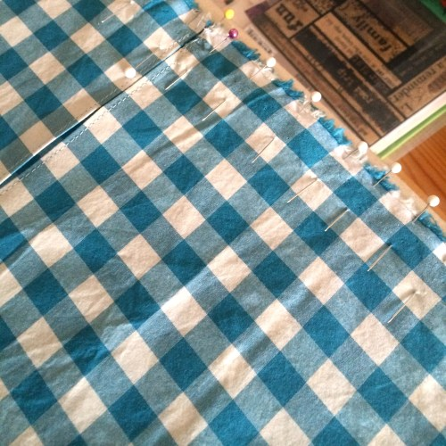 large scale gingham fabric