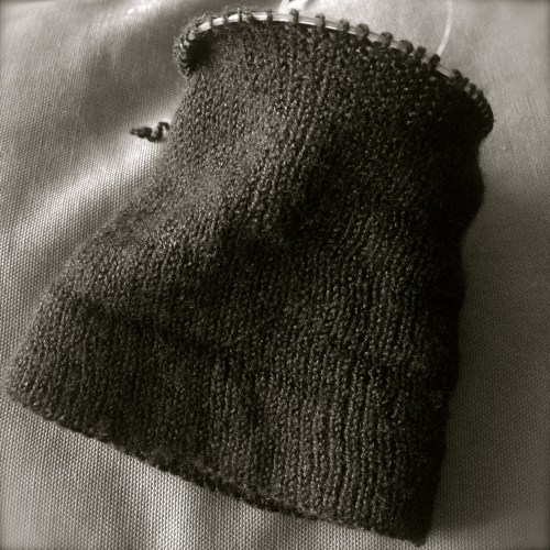knitted cuff