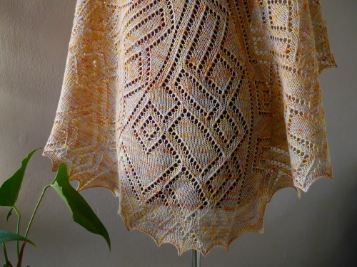 knitted lace shawl pattern