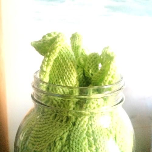 mason jar of swatches