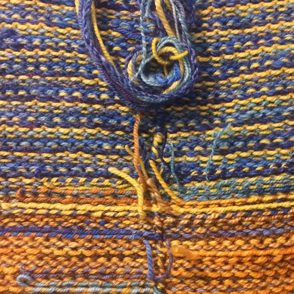 weaving in ends on a handknit sweater