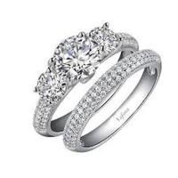 Lafonn Simulated Diamond Pave Wedding Set
