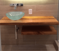 Ash Wood Bathroom Countertop - Holly Waight Designs