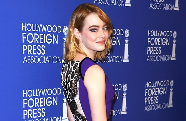 Emma Stone S Dress Is The Embodiment Of Business Up Front Party In The Back Hollywood Bollywood Digest