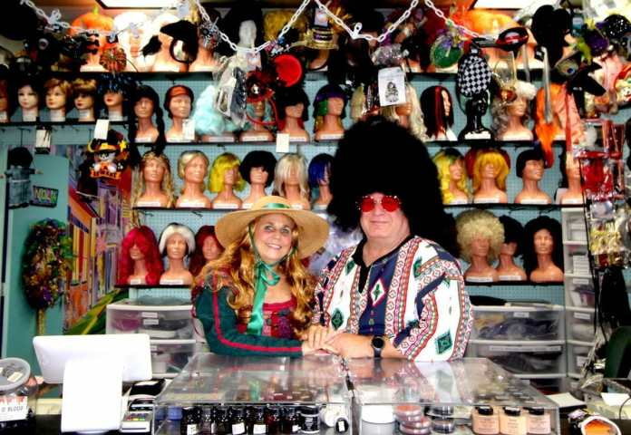Middle school sweethearts celebrate 43 years of business at masquerade costumes on hollywood blvd.