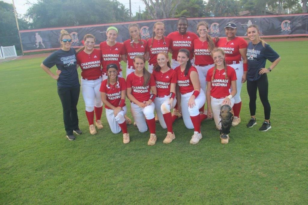 Chaminade-madonna wins regional semi-final softball game