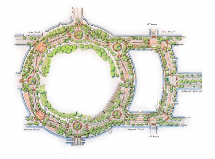 Hollywood cra proposes major redesign to young circle roadway