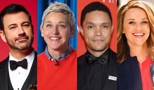 Hollywood Insider Coronavirus, Social Distancing, Quarantine, Ellen, Kimmel, Trevor Noah, Witherspoon
