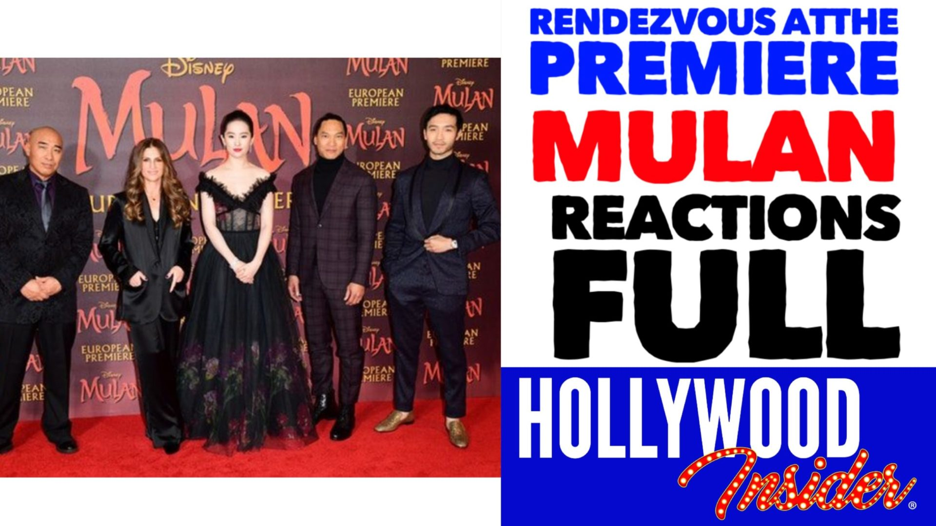 Hollywood Insider Mulan Premiere Reactions, Yifei Liu, Ming-Na Wen, Donnie Yen