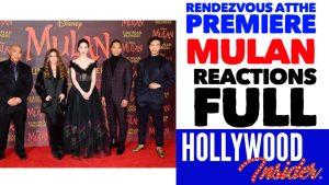 Hollywood Insider Mulan Premiere Reactions, Yifei Liu, Ming-Na Wen, Donnie Yen