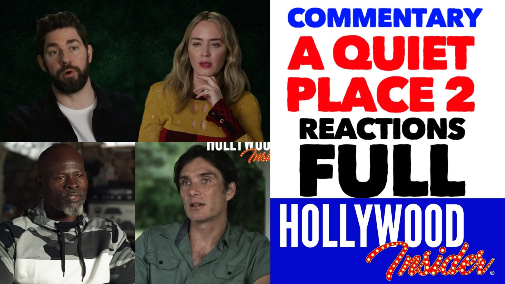 Hollywood Insider Videos 'A Quiet Place Part II' Full Commentary, John Krasinski, Emily Blunt, Millicent Simmonds
