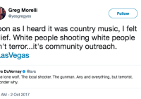 Country Music Fans Being Shot Dead = White People Community Outreach?