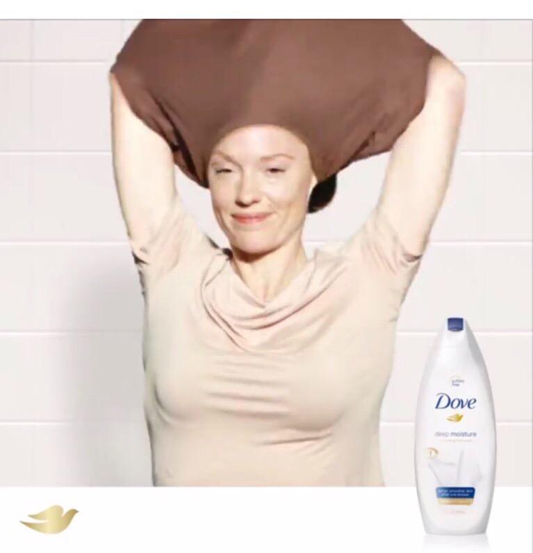 White woman in Dove ad