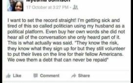 Myeshia Johnson's Facebook