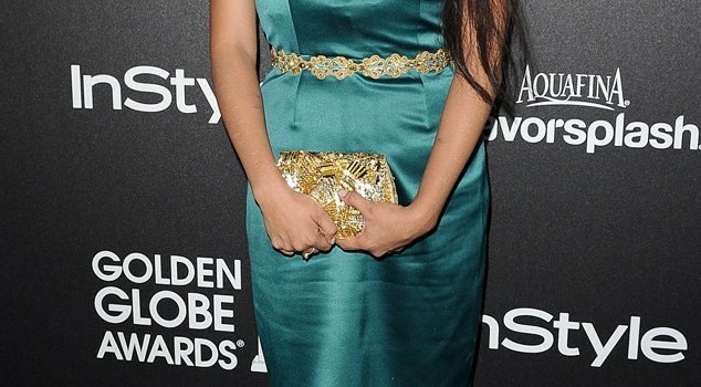 Misty Upham green dress