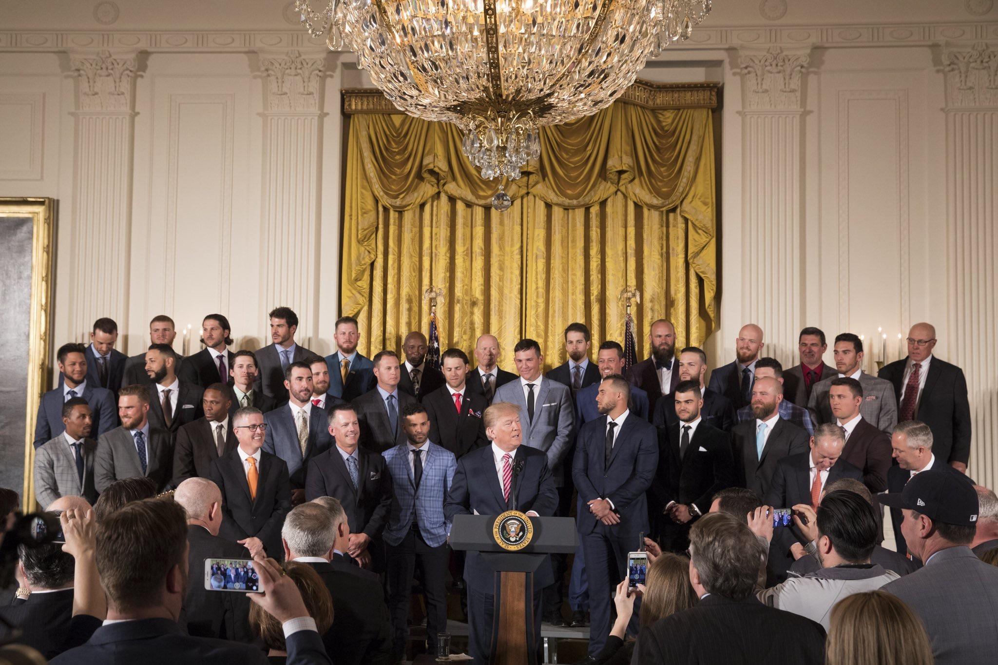 Trump with Astros