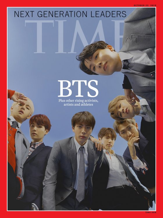 BTS on Cover of Time Magazine