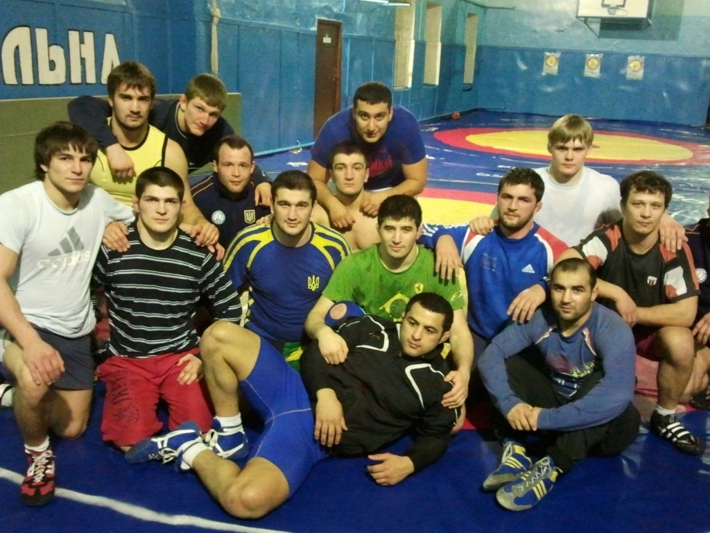 Khabib and cousins in Ukraine