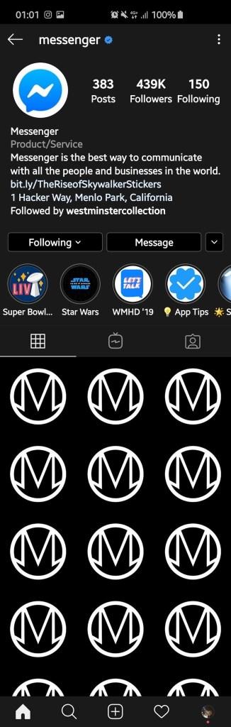 Facebook Messenger on Instagram Hacked