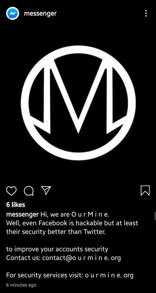 Messenger Instagram account hacked