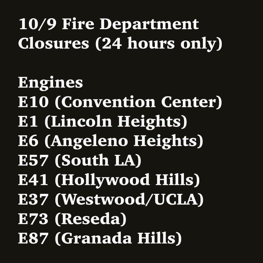 LAFD closures