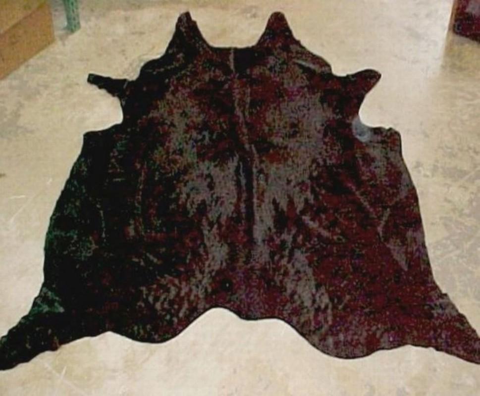 Natural Dyed Solid Brown Cowhide Rug Black Brown Cowhide Rugs