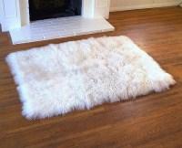 White Fur Rug | White Fur Rugs | Tibetan Lambswool