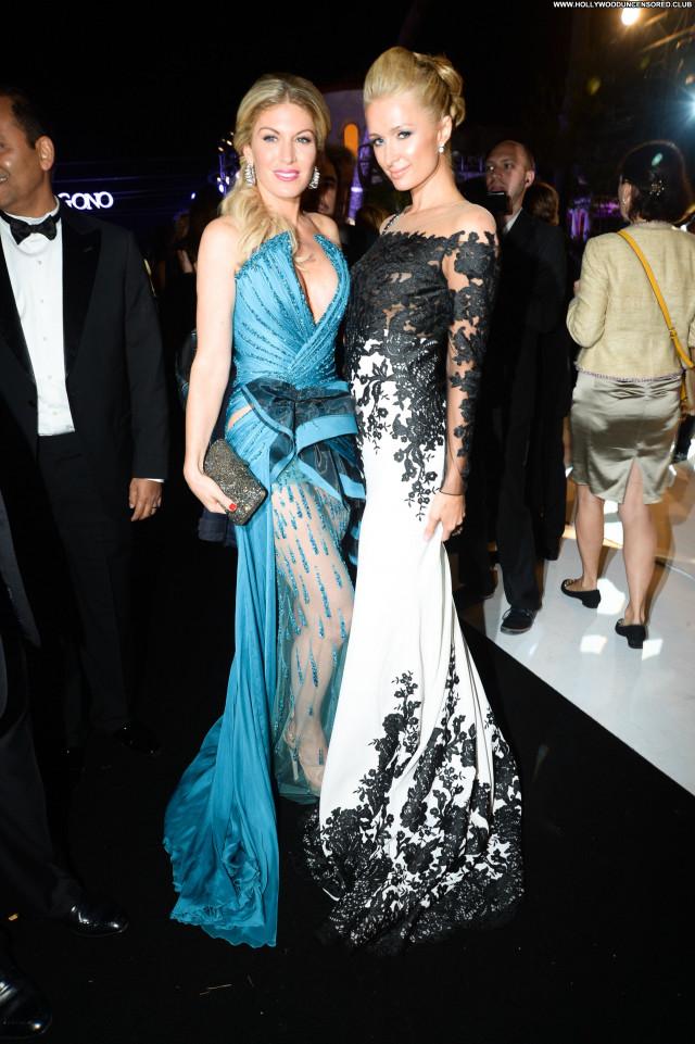 Paris Hilton Cannes Film Festival Beautiful Party Celebrity Posing