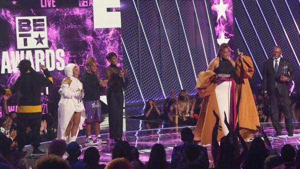 BET Award WINNERS 2021: Queen Latifah accepts the Lifetime Achievement BET Award.
