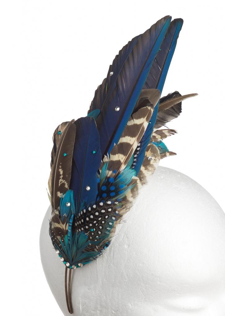Aves Blue Feather Headdress