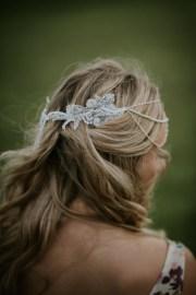 bohemian bridal hair chain