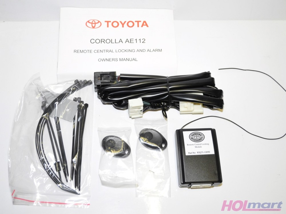 medium resolution of toyota corolla ae112 remote central locking and alarm kit