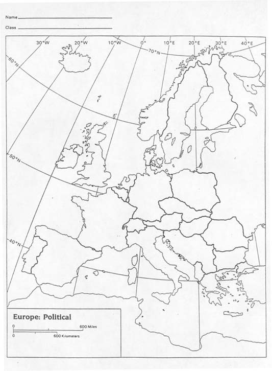 Geography Skills Worksheet