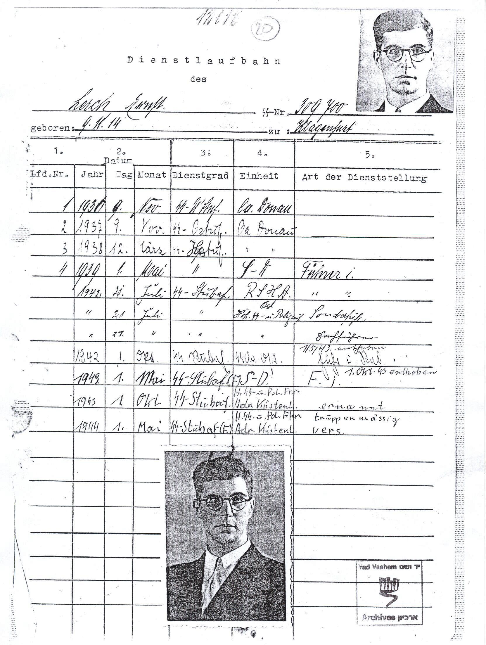 Ernst Lerch www.HolocaustResearchProject.org